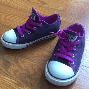 NEW Converse Girls Sneaker Plum - 9c